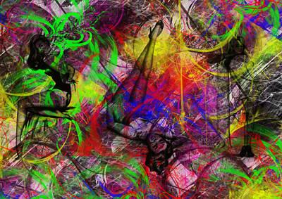 Rhythm And Blues Digital Art - Pin Tin M 2 by Sir Josef - Social Critic -  Maha Art