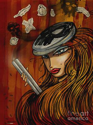 Pin Up - Lowar Mafia In Germany Art Print by Domenico Condello