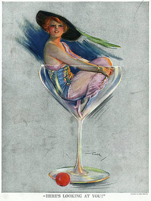 Puck Drawing - Pin Up, 1914 by Granger