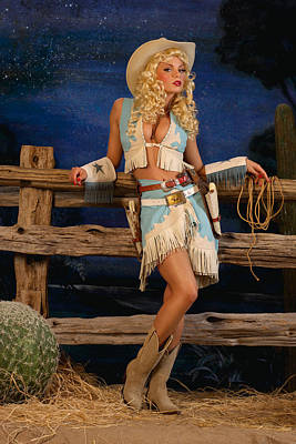Pin-up Photograph - Pin-up Cowgirl by Glenn Specht