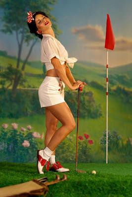 Pin-up Photograph - Pin-up Golf Lady by Glenn Specht