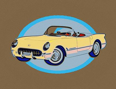 Painting - Pin Up Vette by Florian Rodarte