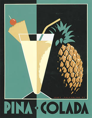 Pineapple Painting - Pina Colada by Brian James