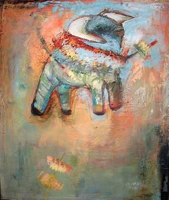 Pi Mixed Media - Pinata- Bull by Kristen Woodward