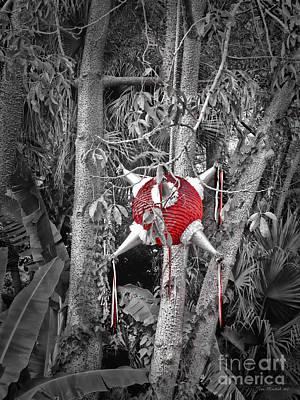 Pinata In Woods Art Print by Joan  Minchak