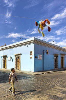 Photograph - Pinatas Over The Streets Of Mexico by Mark E Tisdale