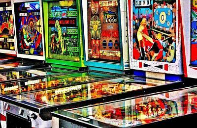Photograph - Pinball Lineup by Benjamin Yeager