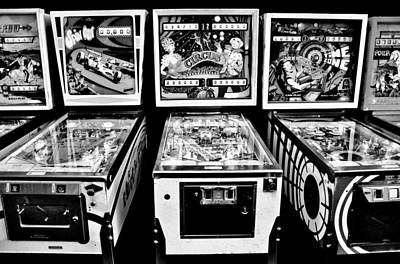 Vintage Video Game Photograph - Pinball Memories by Benjamin Yeager