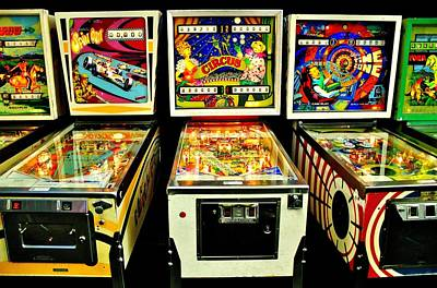 Photograph - Pinball Past Time by Benjamin Yeager