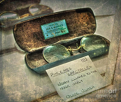 Photograph - Pince-nez Spectacles by Kaye Menner