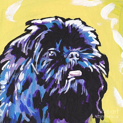 Affenpinscher Painting - Pinch Me by Lea S