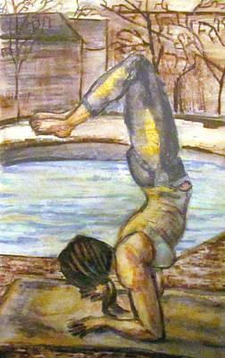 Painting - Pincha Mayurasana by Denny Morreale