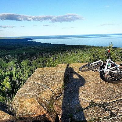 Mtb Photograph - #pincushionmountain #grandmarais #mtb by Christoph Metz