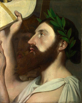 Painting - Pindar And Ictinus by Jean-Auguste-Dominique Ingres