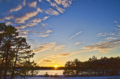 Photograph - Pine Barrens Sunset #1 by Beth Sawickie