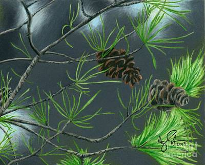 Pine Cones Print by Troy Argenbright