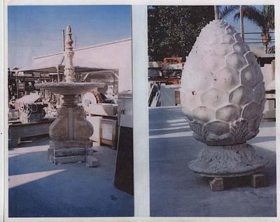 Sculpture - Pine Corn Fountain by Memo Memovic