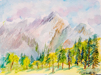 Painting - Pine Forest In The Valley by Walt Brodis