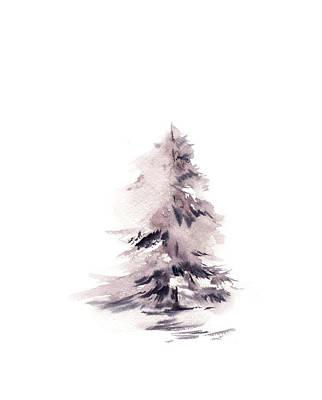 Pine Tree Painting - Pine II by Sophia Rodionov