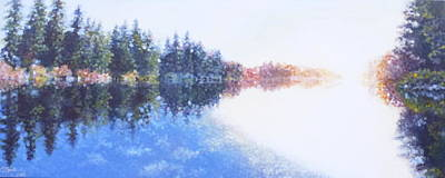 Charles Smith Painting - Pine Lake Reflection by Charles Smith