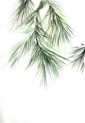 Pine Tree Painting - Pine Leaves II by Sophia Rodionov