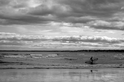 Surfing Maine Photograph - Pine Point Beach by Emily Carter