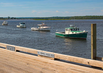 Photograph - Pine Point Lobster Boat Line by Kirkodd Photography Of New England