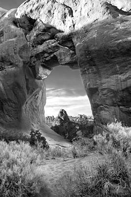 Pine Tree Digital Art - Pine Tree Arch - Utah by Mike McGlothlen