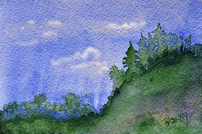 Painting - Pine Tree Hill  by Donna Blackhall