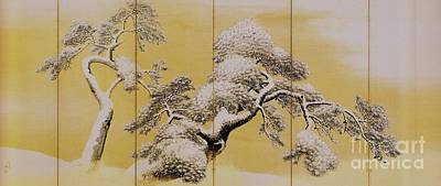 1781 Painting - Pine Trees In Snow by Pg Reproductions