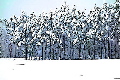 Photograph - Pine Trees Jig Saw Puzzle by Charlie and Norma Brock