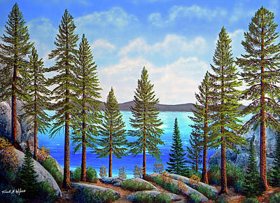 Gouache Painting - Pine Woods Lake Tahoe by Frank Wilson