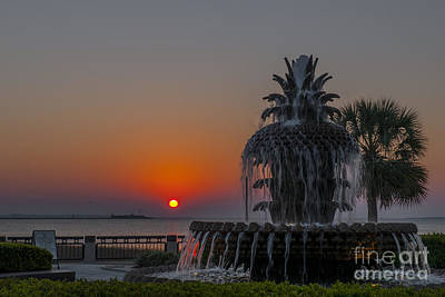 Photograph - Charleston Harbor Sunrise by Dale Powell