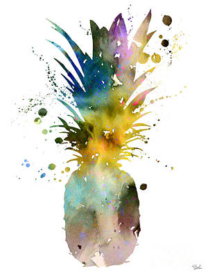 Pineapple 2 Art Print by Watercolor Girl