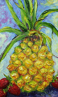 Pineapple And Strawberries Art Print
