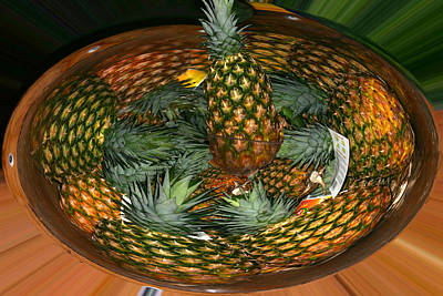 Photograph - Pineapple Bowl by Jim Baker