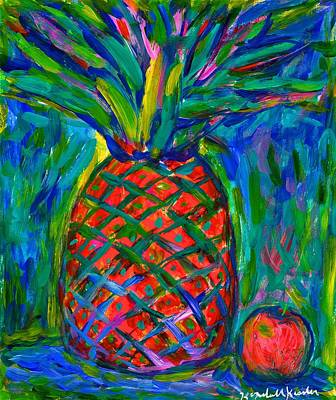 Painting - Pineapple Burst by Kendall Kessler