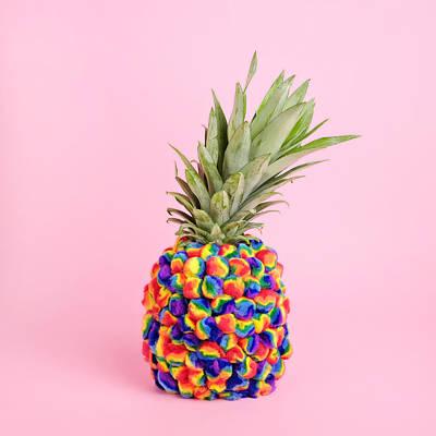Photograph - Pineapple Covered In Tie-dye Pompoms by Juj Winn