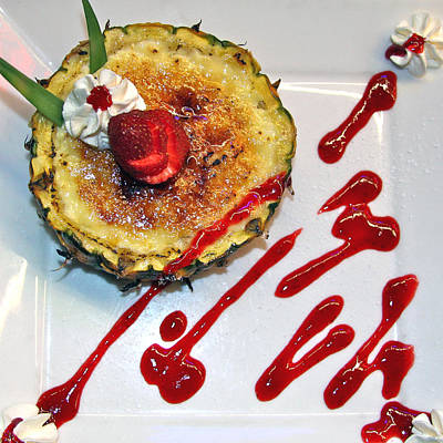 Photograph - Pineapple Creme Brulee Maui Style by Karon Melillo DeVega
