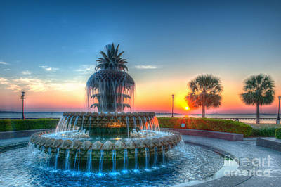 Photograph - Pineapple Fountain At Daybreak by Dale Powell