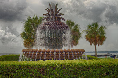 Photograph - Pineapple Fountain by Bill Barber