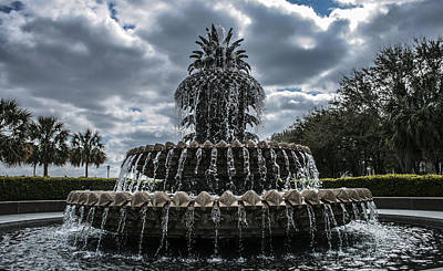 Pineapple Fountain Closeup Print by Steven  Taylor