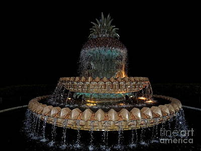 Photograph - Pineapple Fountain by Eve Spring
