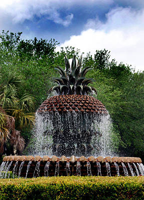As Art Photograph - Pineapple Fountain by Skip Willits