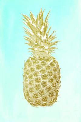 Pineapple Gold Art Print by Ramona Murdock