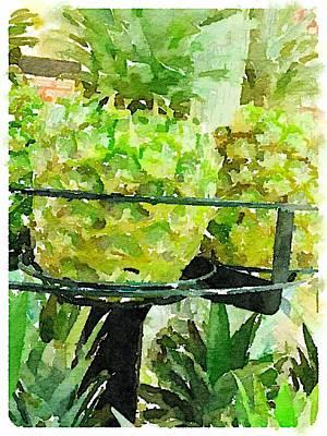 Digital Art - Pineapple Green by Shannon Grissom