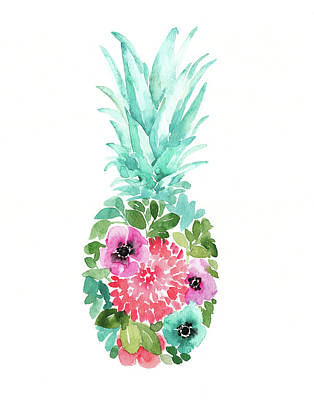 Pineapple Wall Art - Painting - Pineapple I by Elise Engh