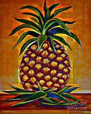 Painting - Pineapple II by Shelia Kempf