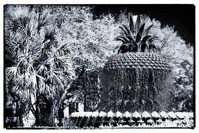 Pineapple In Charleston Print by John Rizzuto