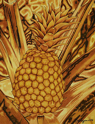 Painting - Pineapple In Rust by DK Nagano